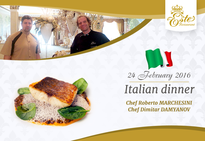 Enjoy the Italian cuisine with Chef Roberto Marchesini