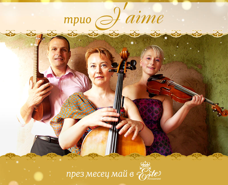 Trio J'aime live in Este Resaturant in May