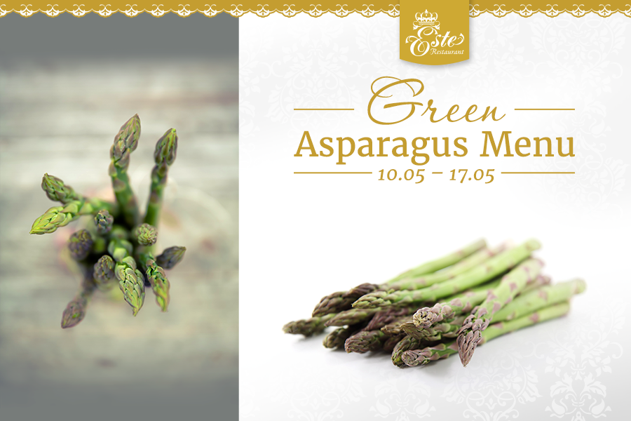 Green Asparagus Menu in Este Restaurant