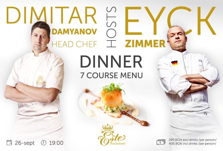 Award-winning chef Eyck Zimmer presents 7-course Menu at Este Restaurant