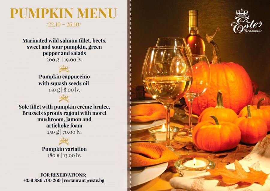 Pumpkin Menu this week in Este!