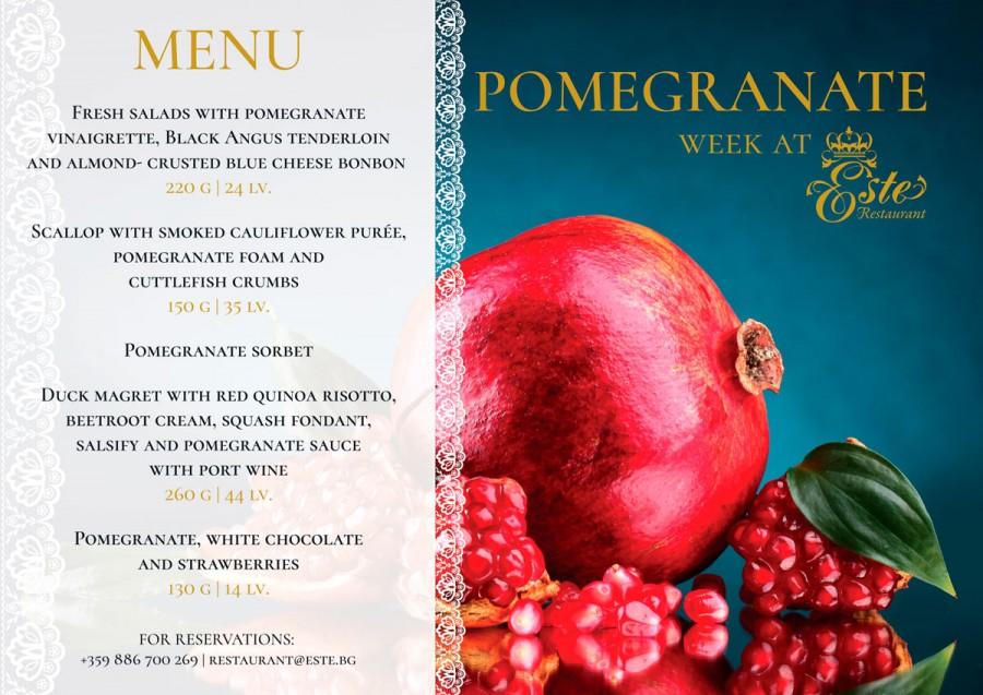 Pomegranate Week in Este