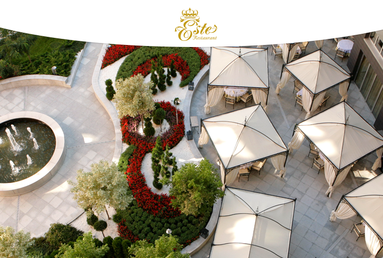 The Garden of ESTE restaurant is now open for the spring-summer season!
