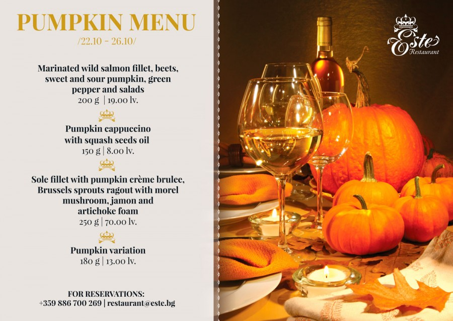Pumpkin Menu this week in Este!